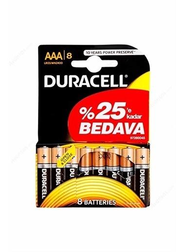 Duracell Duracell Dayanıklı Alkalin Aaa Ince Kalem Pil 6+2 Ekonomik Paket Pembe